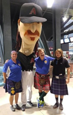 Scots with the Mascot