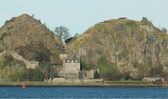 Dumbarton Castle and rock